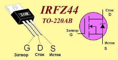 Цоколевка транзистора IRFZ44N