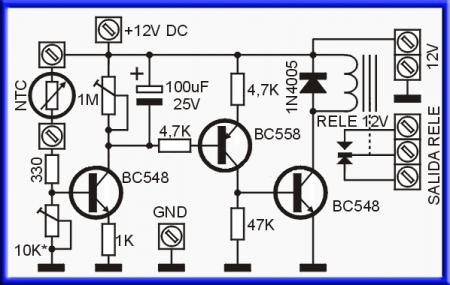 Принципиальная схема блока управления вентилятором