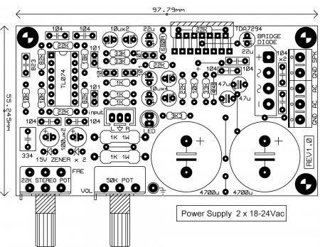 Исходник печатной платы TDA7294_amp for sub
