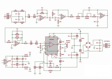 tda7294-subwoofer-amp_принципиальная схема