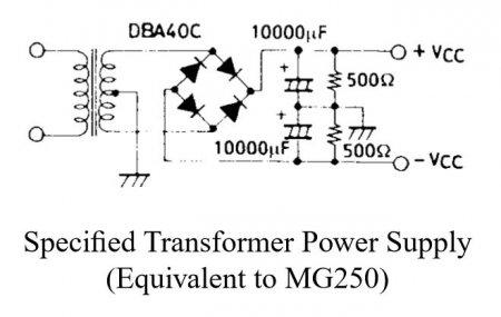 Схема блока питания усилителя на STK4048XI
