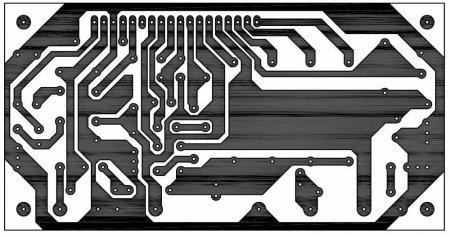 Плата усилителя на STK40488XI-150W_PCB