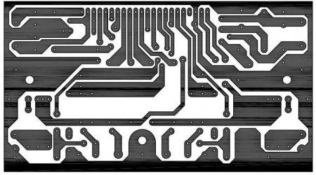 Плата усилителя на STK412-170_180W_Class H_PCB