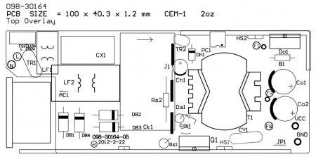 Расположение элементов на плате адаптера NB_65B19