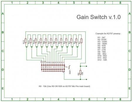 Схема GAIN SWITCH