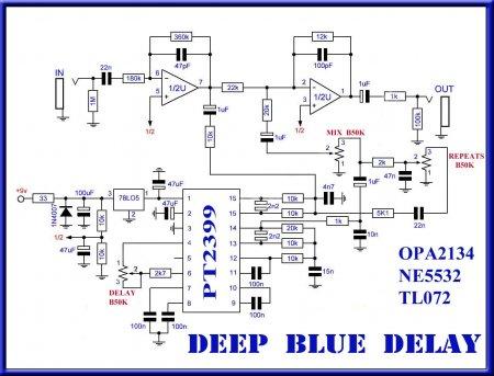 Принципиальная схема Deep Blue Delay