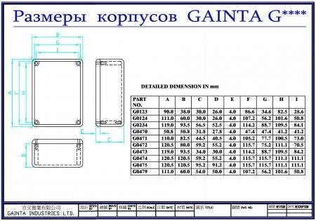 Корпус GAINTA размеры