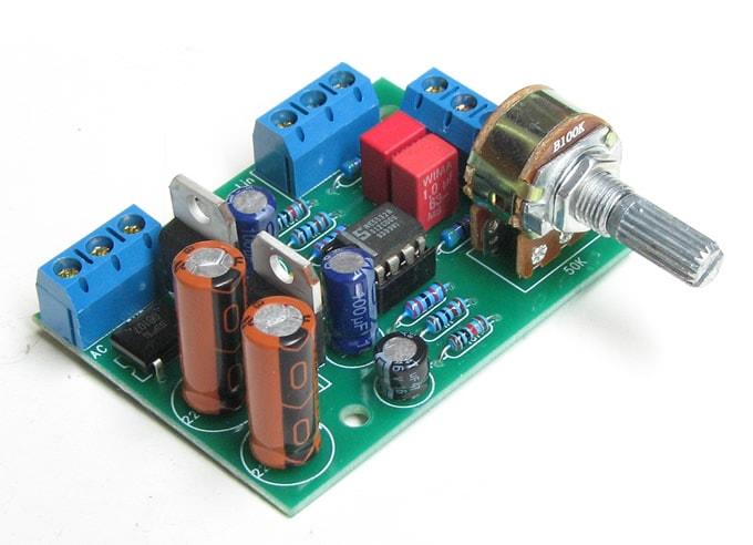 Предварительный усилитель на NE5532 с регулятором громкости