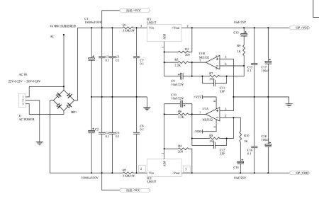 Схема блока питания усилителя TDA7294BSRV
