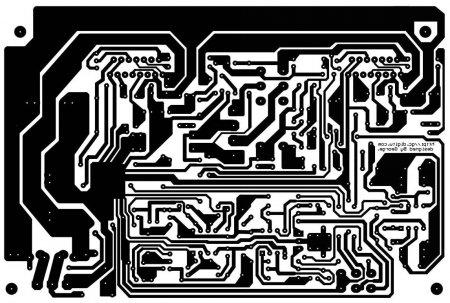 TDA7294_AMP_плата_сторона дорожек