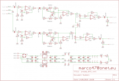 Схема преампа на TL072