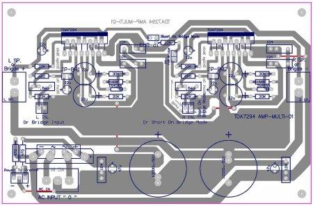 Исходник платы усилителя TDA7294-MULTI-01
