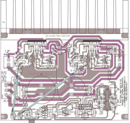 TDA7294-подключение в режиме СТЕРЕО