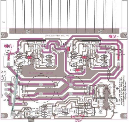 TDA7294-подключение в режиме моста