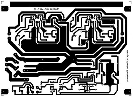 Исходник печатной платы  TDA7294-AMP-MULTI V2.0 PA