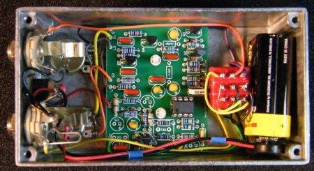 Вид педали MXR Dynacomp Compressor_внутренности