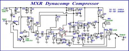 Принципиальная схема MXR Dynacomp Compressor