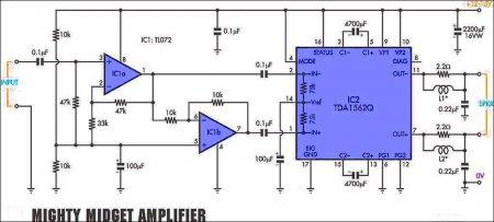 Схема усилителя на TDA1562Q_TL072