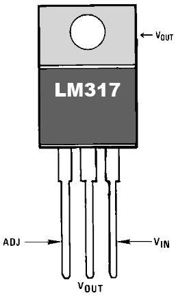 Расположение выводов LM317