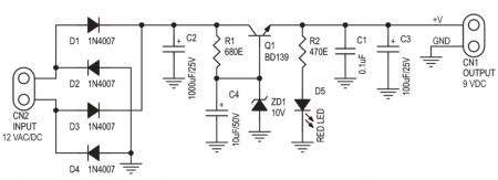 9-VDC-POWER-SUPPLY-принципиальная схема