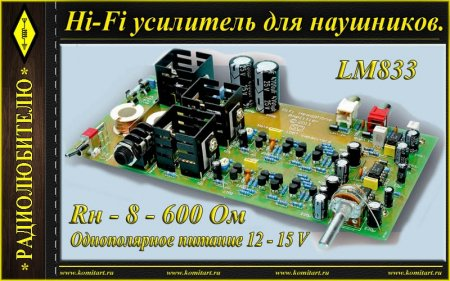 Hi-Fi Headphone Amp _ LM833