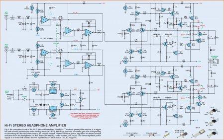 Схема усилителя для наушников на LM833