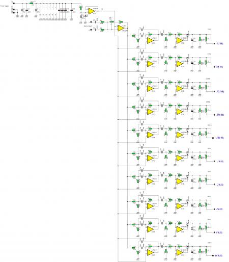 Схема фильтров спектроанализатора