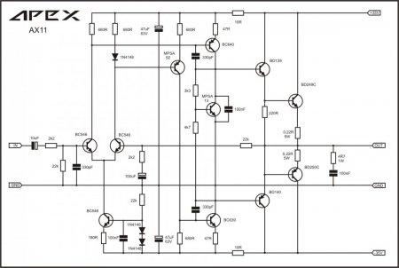 Схема усилителя APEX AX-11