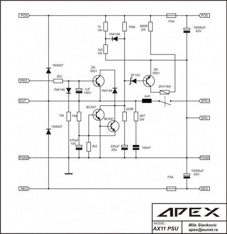 Принципиальная схема APEX AX11 PSU