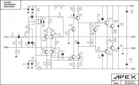 Принципиальная схема усилителя APEX SR50