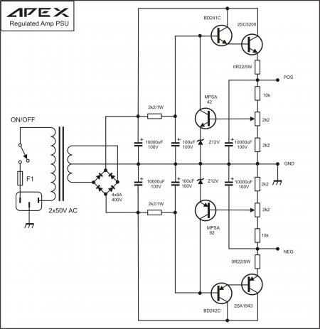APEX  Regulated PSU5-принципиальная схема