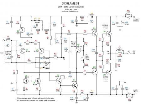 Схема усилителя DX BLAME ST