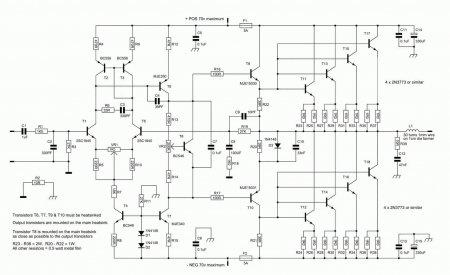 Nbip300 Amplifier schematic