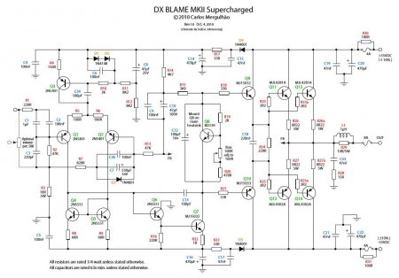 Схема усилителя DX BLAME MKII