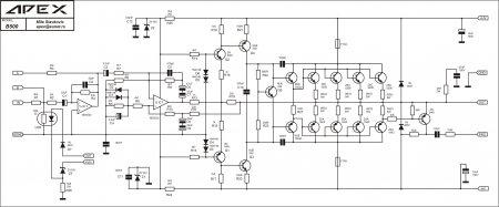 APEX B500 принципиальная схема