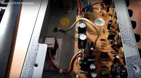 Комбо усилитель IBANEZ GTA10 внутренности