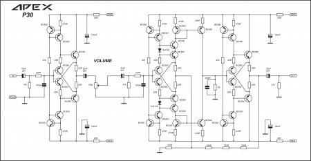 APEX P30 Preamplifier принципиальная схема