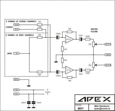 Apex Mix schematic