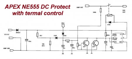 APEX NE555 DC Protect принципиальная схема