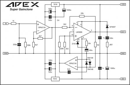 APEX Super Gainclone amplifier schematic