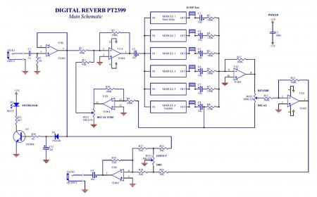СХЕМА Reverb MAIN BOARD