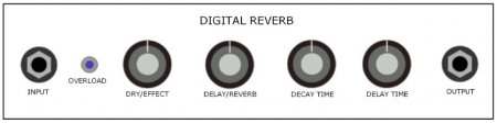 Panel digital Reverb