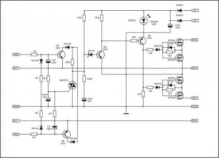 APEX MOS-FET DC PRotect принципиальная схема