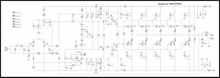 Anistardi amplifier 182W 8R принципиальная схема