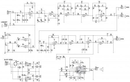 Guitar Amplifier TDA7294 Schematic