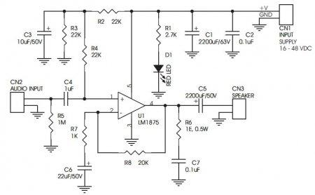 20W_LM1875 Amp_Schematic