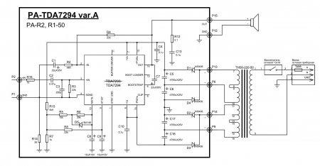 Схема усилителя мощности Yerasov Repetitor на TDA7294