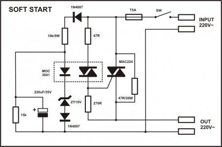 APEX Soft-Start with Triac schematic