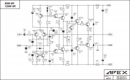 APEX AX14 amplifier schematic