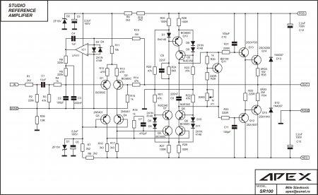 APEX SR100 Amplifier Schematic